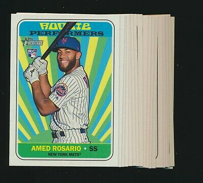 2018 Topps Heritage High Rookie Performers Complete 15 Card Insert Set
