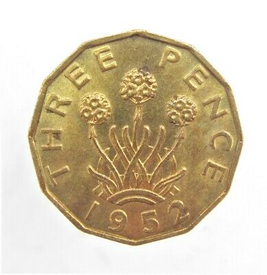 1952 King George Vi Threepence  With Lustre