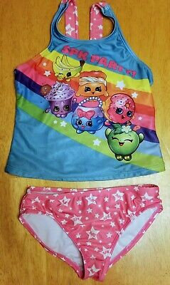 a451e9b08cffe NWT SHOPKINS GIRLS 2 Pc Swimwear Swim Suit Tankini w/ Bonus Goggles ...