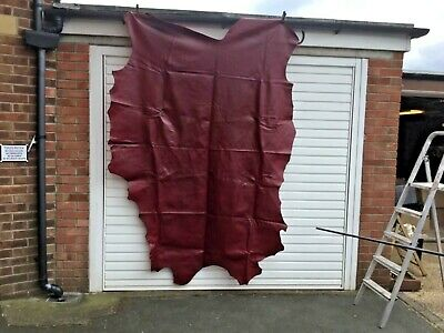 Leather Italian Hide Red Cherry
