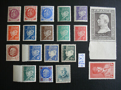 PÉTAIN 1941-1944 France WWII  Lot x19 stamps   MNH
