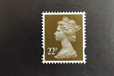 GB QEII Machin Definitive Stamp. SG Y1774 22p Olive-Brown 2B Litho MNH