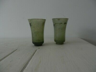 pair of 19c chinese mutton fat jade rice win glasses