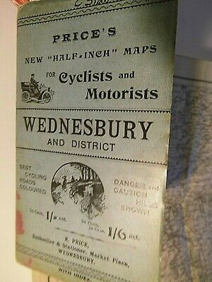 Wednesbury, All West Midlands C1911 Mr Price Of The Market Place;His Bespoke Map