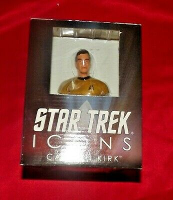 Star Trek Icons Captain Kirk Mini Bust C.o.a. In Original Box