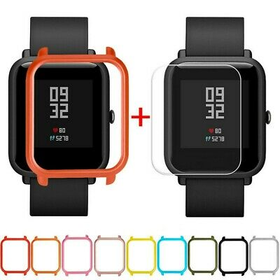 Case Cover Shell For Xiaomi Huami Amazfit Bip Youth Watch w/ Screen Protector