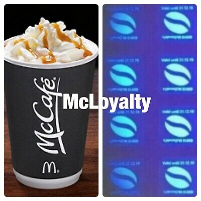 120 McDonalds Coffee Bean Loyalty Stickers Valid 31:12:19. Ultraviolet ☕️☕️✅✅✅