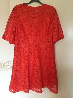 Women Lace Dress Party Holidays Cruise Size 18 Uk