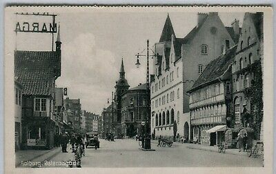 Denmark Aalborg - Osteraagade old uncommon view sepia postcard from booklet