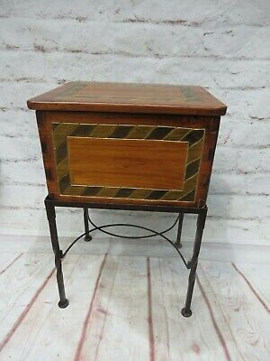 Vintage Mexican Wood Dovetail Chest/File Cabinet Hand Made by Carrington & Foss