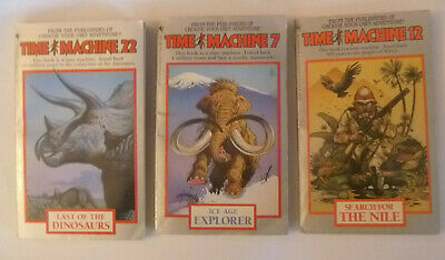 Trio of TIME MACHINE Paperbacks (#s 7, 12 & 22) (Choose Your Own Adventure)