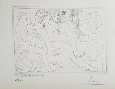 Pablo Picasso Hand Signed Numbered 1954 Lithograph Suite Vollard + No Reserve !!