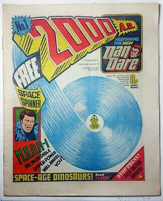 2000AD Prog 1 1st Judge Dredd Mega City One Comic Issue Mid > HIGH GRADE 1977