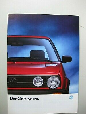 VW Golf Syncro GT brochure Prospekt German text Deutsch 36 pages 1989