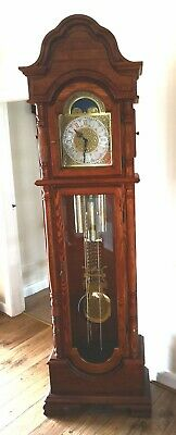 Oak Antique Style Grandmother Clock