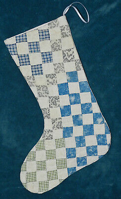 Awesome Primitive Antique Vintage Cutter Quilt Christmas Stocking! Only 2! 17-25