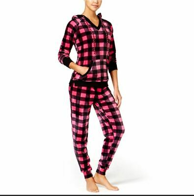 4c6db0328fd9 Jenni by Jennifer Moore Printed Hooded Velour Pajama Set, Created for  Macy's NWT