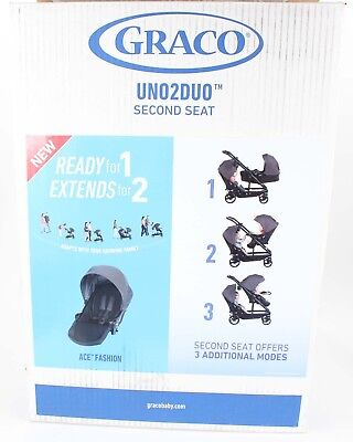 Graco Uno2Duo ACE NEW Second Seat Bassinet to Seat Add On Seat LBB