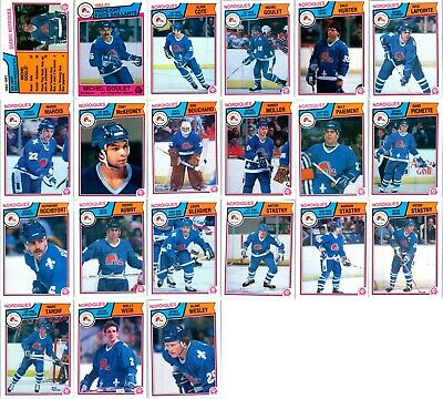 1983-84 O-PEE-CHEE QUEBEC NORDIQUES 21 Vintage Hockey cards Team Lot RC Stastny