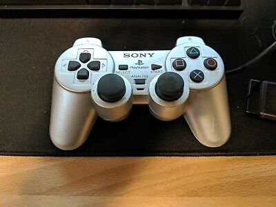 Playstation 2 PS2 Official OEM Sony Dualshock 2 Controller AUTHENTIC - SILVER