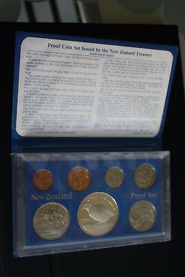 Coin Set Issued By The New Zeland Treasury 1982