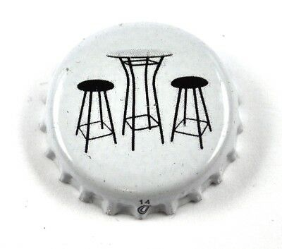 Beer Soda USA White Bottle Cap Table Chairs bar Stool