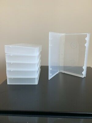 Lot of Six Clear Protective Plastic Case Covers for VHS VCR Cassette Tapes