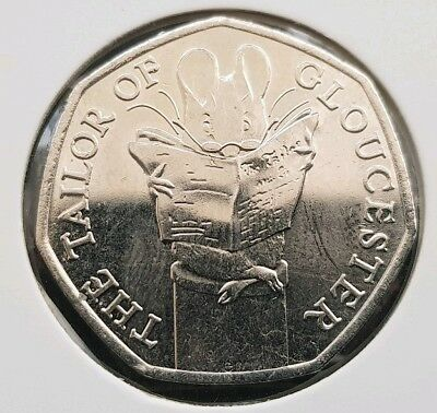 THE TAILOR OF GLOUCESTER  50p FREE COIN CAPSULE  UNCIRCULATED