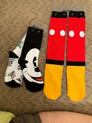 Disney Parks exclusive Mickey Shorts Socks & Mickey Youth Large 2 Pack Socks