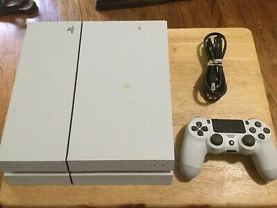 Sony PlayStation 4 Original PS4 500GB Jet White Console & Controller