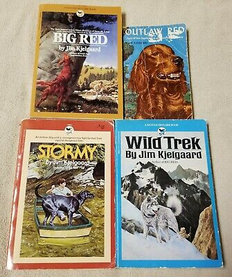 JIM KJELGAARD 3 Book Lot Dog Stories Novels BIG RED Stormy OUTLAW RED GUC