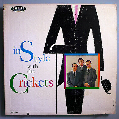 Buddy Holly's Crickets~In Style~Ultra-Rare Orig '60 Coral Maroon Label Mono Lp