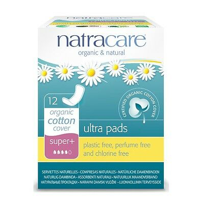 NATRACARE ORGANIC COTTON COVER SUPER+ NATURAL ULTRA pads - 2x12 pads