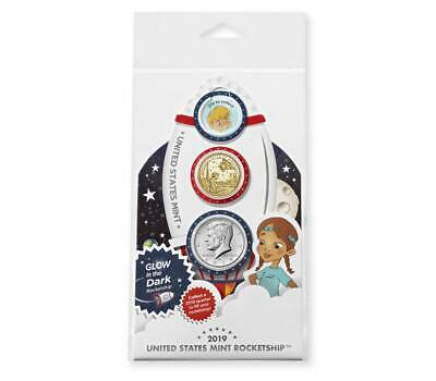 U.S. Mint Glow In The Dark Rocketship 2019 Coin Set SOLD OUT!