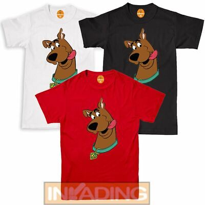Kids Adults Scooby Doo Character Face Fitted Brown T-Shirt Top | Sizes S-XXL