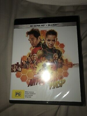 Ant Man And The Wasp 4K Blu Ray + Blu Ray Brand New And Sealed