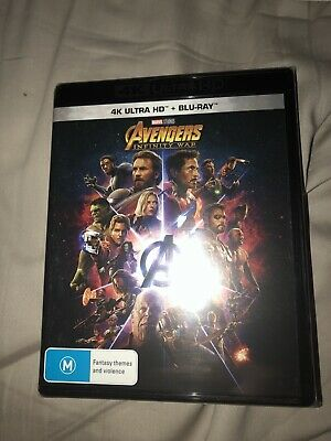 Avengers Infinity War 4K + Blu Ray Brand New And Sealed