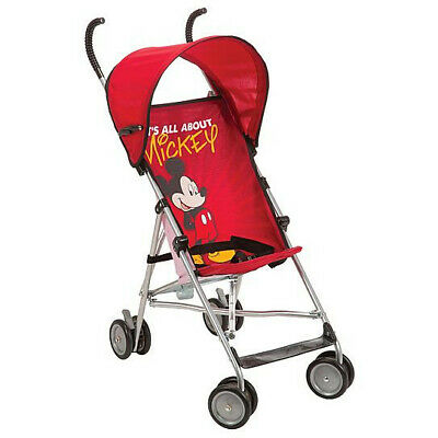 Disney Umbrella Stroller With Canopy - All About Mickey Red Mickey Pattern