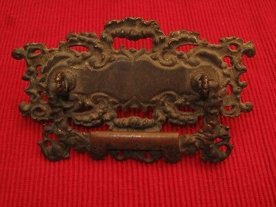 Antique Brass Bronze Fabulous Roccoco Ornate Draw Pulls Handle Sand Cast French