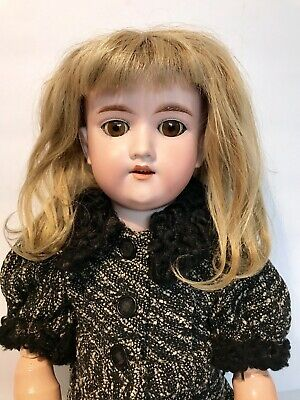 """Antique Armand Marseille Germany 390 A 6 M 20"""" Bisque Brown Eyed German Doll"""