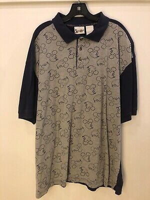 2c7a6c424 Vintage Mickey Mouse All Over print Polo shirt XL Golf 90's Skate Streetwear