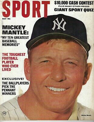 1965 Sport Magazine baseball Mickey Mantle,New York Yankees Joe Namath Jets GOOD