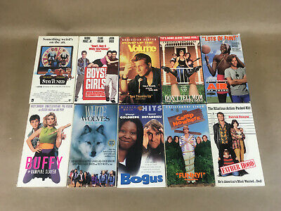Cult Classic 90's Movies, Comedies, VHS Bulk Lot 10 Tapes