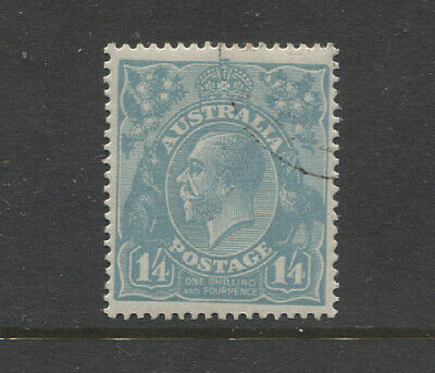 AUSTRALIA 1920: CTO 1/4d pale blue KGV SG 66 defin from a Collector's Set