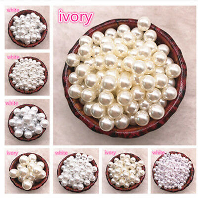 Wholesale 4-40mm Round Imitation Pearl ABS Beads Jewelry Findings DIY Decoration