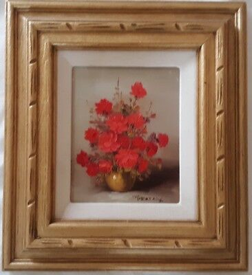 """ROBERT COX (1934-2001), Red Rose Still Life, 8"""" by 10"""""""