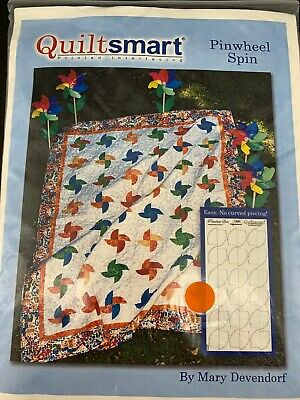Pattern & Printed Interfacing ~ CLASSIC PACK PINWHEEL SPIN ~ by Quiltsmart NOS