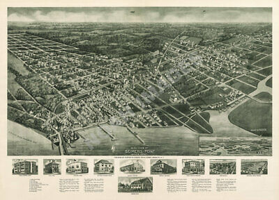 Atlantic City New Jersey c1900 Perspective map repro 24x18