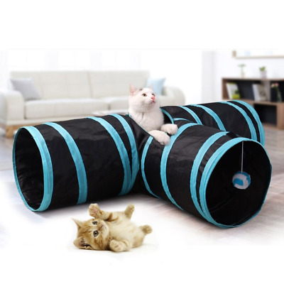Brand New 3 Way Collapsible Pet Tunnel, Fun Run Play Cat / Puppy / Rabbits with