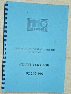 Mazooma Count Yer Cash Genuine Factory Manual